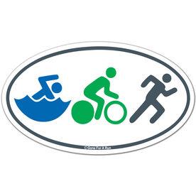 Swim Bike Run (Figures) Triathlon Car Magnet