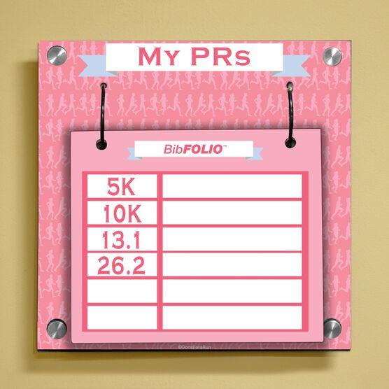 Dry Erase My PRs Marathon Silhouette Wall BibFOLIO® Display