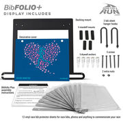 BibFOLIO+™ Race Bib and Medal Display Run With Your Heart