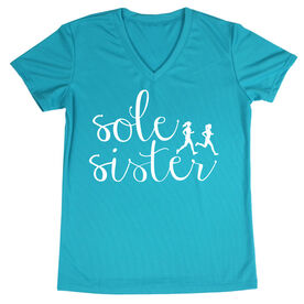 Women's Running Short Sleeve Tech Tee - Sole Sister Script