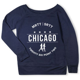 Running Fleece Wide Neck Sweatshirt - Chicago 26.2 (MRTT/SRTT)