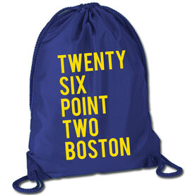 Running Sport Pack Cinch Sack Twenty Six Point Two Boston Text
