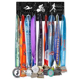 Triathlon Hooked on Medals Hanger - Tri Inspiration Male