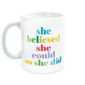 Running Coffee Mug - She Believed She Could So She Did