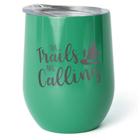 Running Stainless Steel Wine Tumbler - The Trails Are Calling