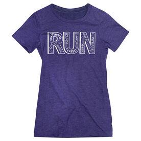 Womens Everyday Runners Tee Run With Inspiration