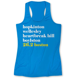 Women's Performance Tank Top - Run Mantra - Boston