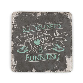 Running Stone Coaster All You Need Is Love
