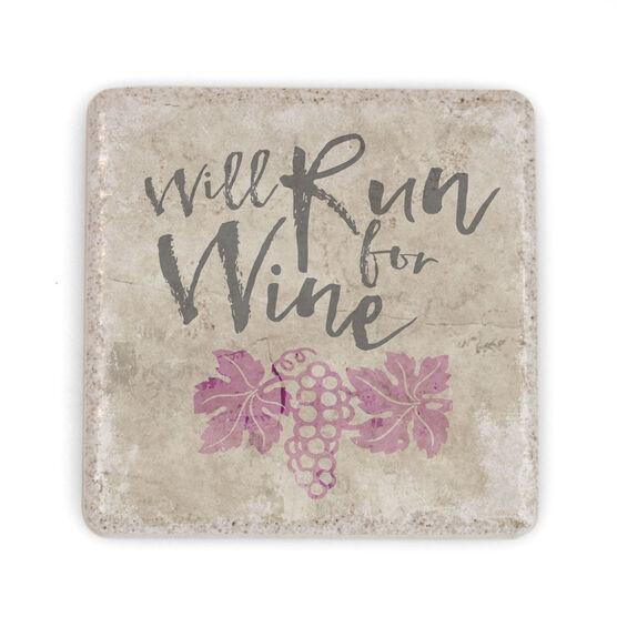 Running Stone Coaster - Will Run For Wine