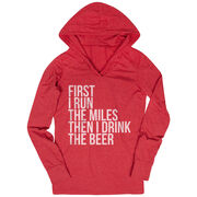 Women's Running Lightweight Performance Hoodie - Then I Drink The Beer