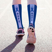 Running Printed Mid-Calf Socks - Hope