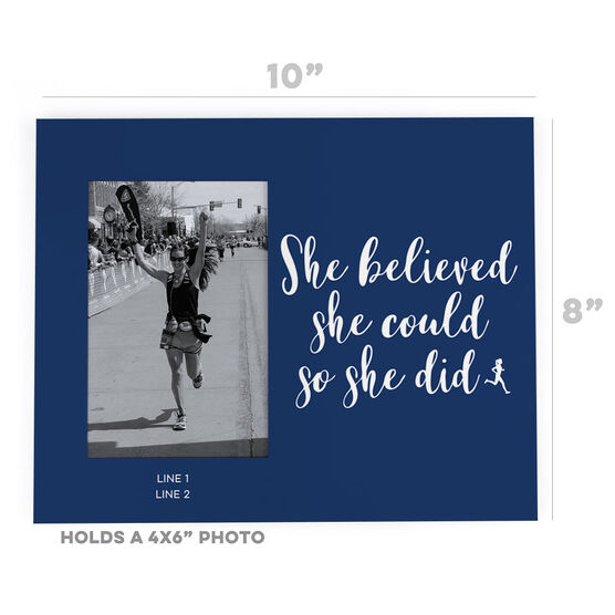 Running Photo Frame - She Believed She Could