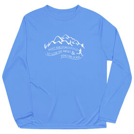 Men's Running Long Sleeve Tech Tee - Into the Forest I Go
