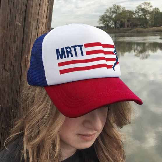 Running Trucker Hat - Moms Run This Town Logo MRTT RWB