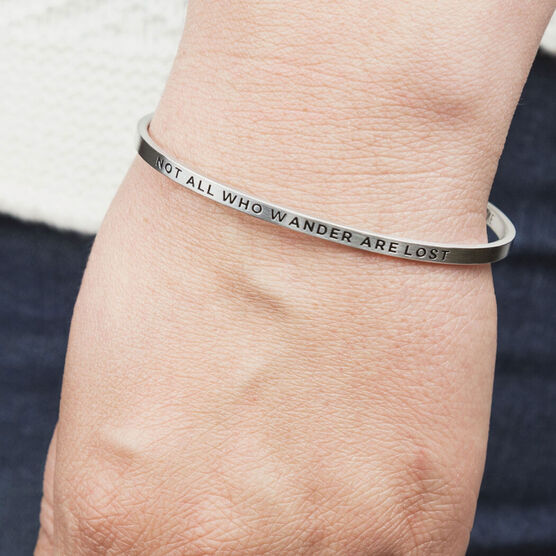 InspireME Cuff Bracelet - Not All Who Wander Are Lost