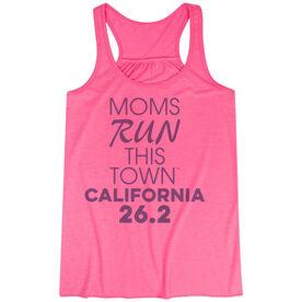 Flowy Racerback Tank Top - Moms Run This Town California 26.2