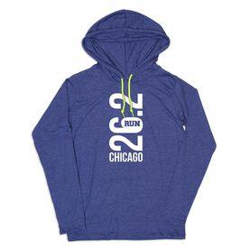 Men's Running Lightweight Hoodie - Chicago 26.2 Vertical