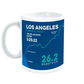 Running Coffee Mug - Personalized Los Angeles Map
