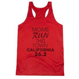 Women's Racerback Performance Tank Top - Moms Run This Town California 26.2