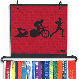 BibFOLIO+™ Race Bib and Medal Display - Swim Bike Run Repeat Guys