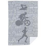 Triathlon Premium Blanket - Swim Bike Run Inspiration Male