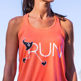 Flowy Racerback Tank Top - Let's Run For Halloween