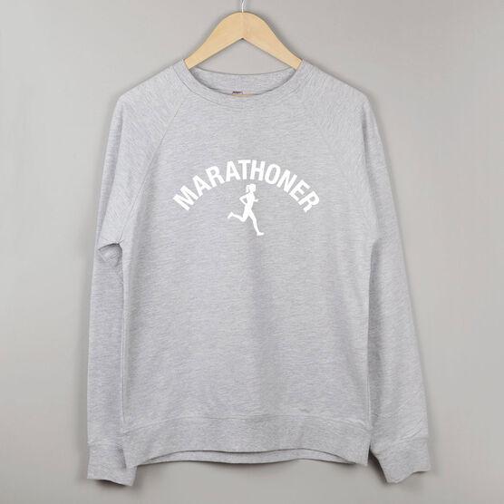Running Raglan Crew Neck Sweatshirt - Marathoner Girl