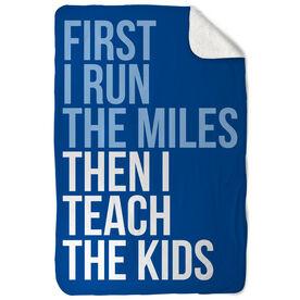 Running Sherpa Fleece Blanket - Then I Teach The Kids