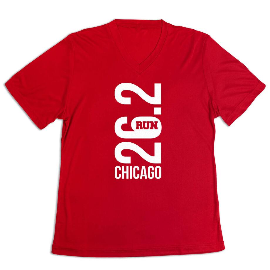 Women's Short Sleeve Tech Tee - Chicago 26.2 Vertical