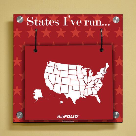 Dry Erase Running The USA Map Wall BibFOLIO® Display