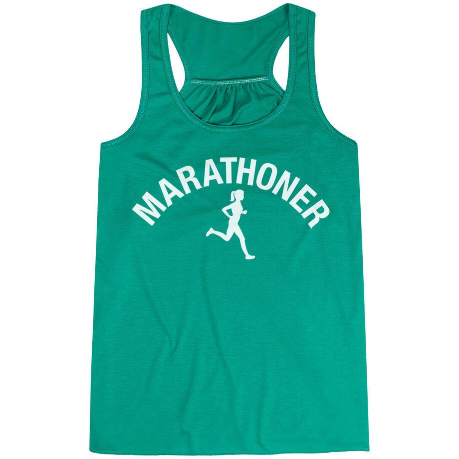 Flowy Racerback Tank Top - Marathoner Girl