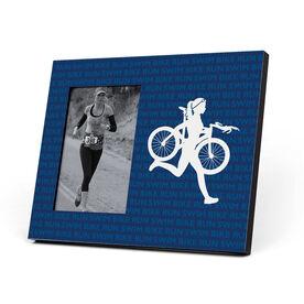 Triathlon Photo Frame - Swim Bike Run Repeat