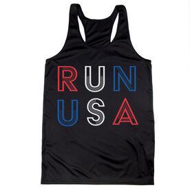 Women's Racerback Performance Tank Top - Run USA