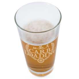 Triathlon Carb Loading 16 oz Beer Pint Glass