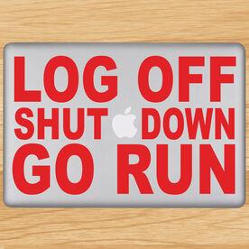 Log Off Shut Down Go Run Removable GoneForaRunGraphix Laptop Decal