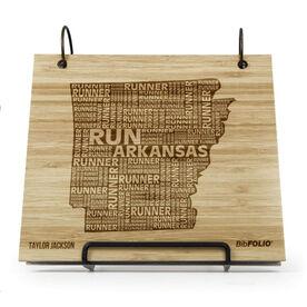 Engraved Bamboo Wood BibFOLIO Arkansas State Runner
