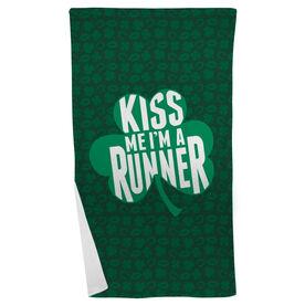 Running Beach Towel Kiss Me I'm A Runner Shamrock
