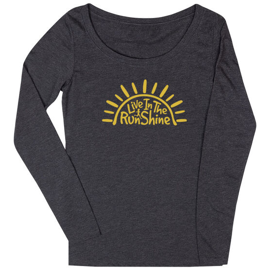Women's Runner Scoop Neck Long Sleeve Tee - Live In The RunShine