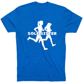 Running Short Sleeve T-Shirt - Sole Sister Silhouettes