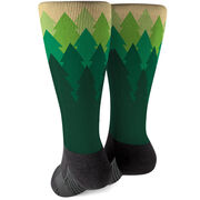 Running Printed Mid-Calf Socks - Trails