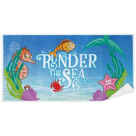 Running Premium Beach Towel - Runder The Sea