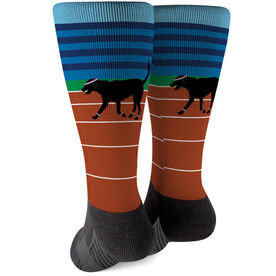 Track and Field Printed Mid-Calf Socks - Terrence The Track Dog