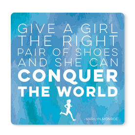 """Running 12"""" X 12"""" Removable Wall Tile - Give A Girl The Right Pair of Shoes"""
