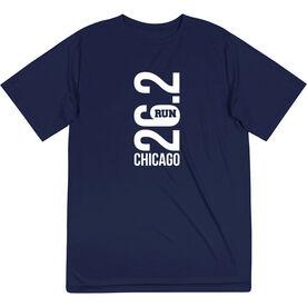 Men's Running Short Sleeve Tech Tee - Chicago 26.2 Vertical