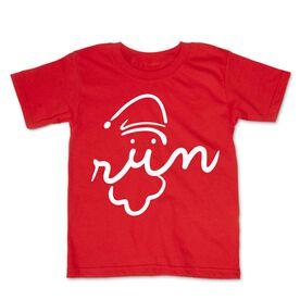 Running Toddler Short Sleeve Tee - Santa Run Face