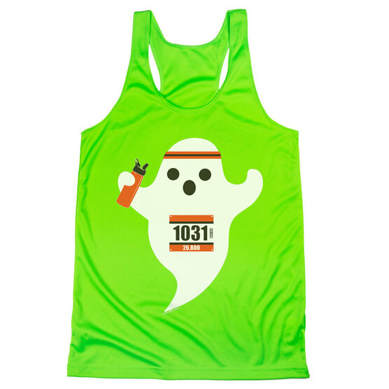 Women's Racerback Performance Tank Top - Faster Than Boo