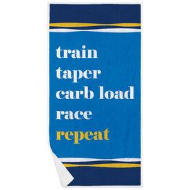 Running Premium Beach Towel - Repeat Mantra
