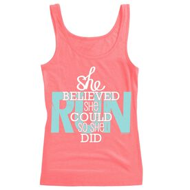 Women's Athletic Tank Top She Believed She Could So She Did