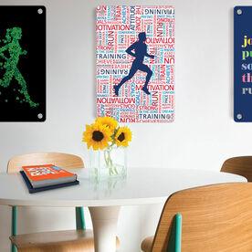 """Running 18"""" X 12"""" Wall Art - Inspirational Words Male"""