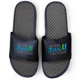 Running Navy Slide Sandals - Moms Run This Town